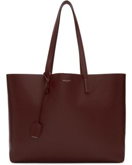 Red East/west Shopping Tote