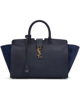 Navy Small Downtown Cabas Tote