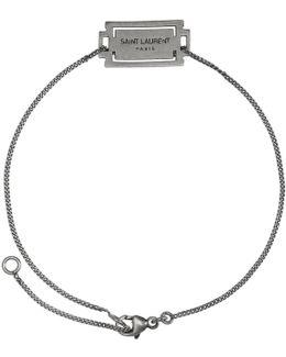 Silver Razor Logo Bracelet