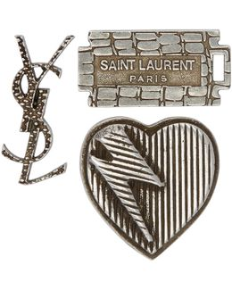 Set Of Three Logo Pins