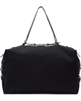 Black Large Canvas Id Convertible Bag