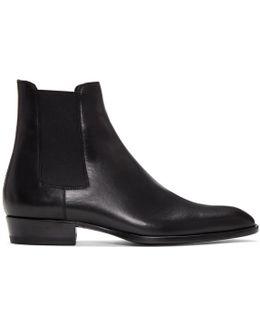 Black Wyatt Chelsea Boots