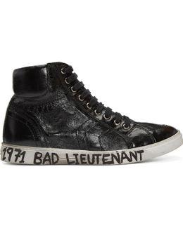 Black 'bad Lieutenant' Joe Mid-top Sneakers