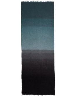 Black & Grey Dip Dye Scarf