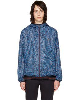Blue Multidot Hooded Jacket