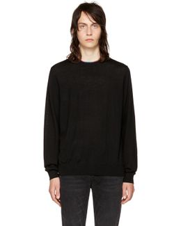 Black Multistripe Sweater