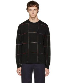 Black Grid Sweater