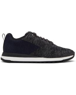 Black & Blue Rapid Sneakers