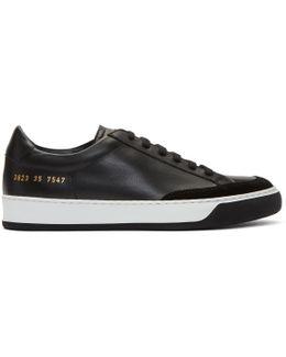 Black Tennis Pro Sneakers