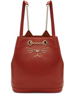 Red Feline Backpack