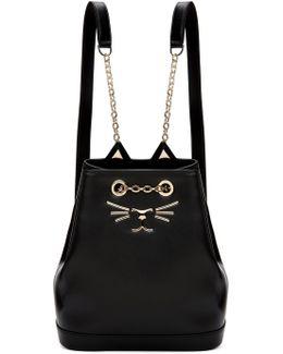 Black Petite Feline Backpack