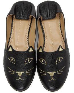 Black Kitty Espadrilles