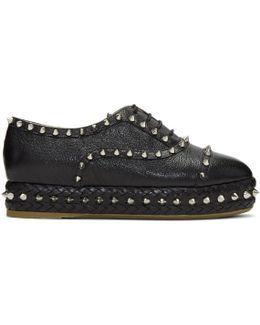 Black Studded Hoxton Oxfords