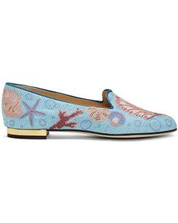Blue Oceanic Slippers