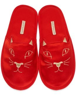 Red House Cats Slippers
