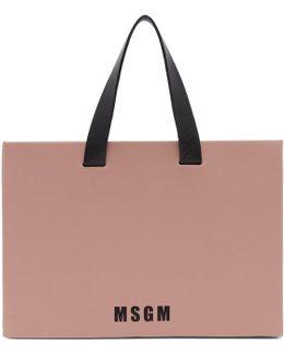 Pink Medium Logo Tote