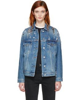 Indigo Denim Embellished Jacket