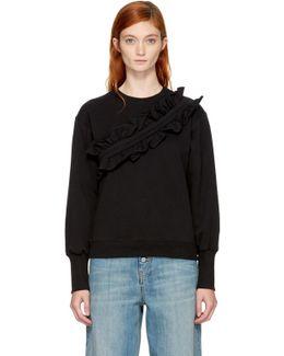 Black Ruffle Sweatshirt