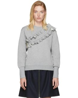 Grey Ruffle Sweatshirt