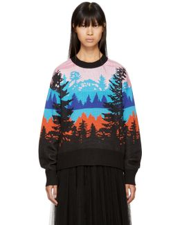 Pink Landscape Sweater