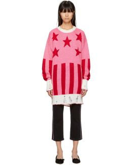 Pink Long Stars & Stripes Sweater