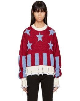 Red Short Stars & Stripes Sweater
