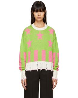 Green Short Stars & Stripes Sweater