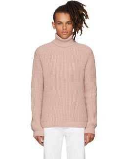 Pink Thick Knit Turtleneck