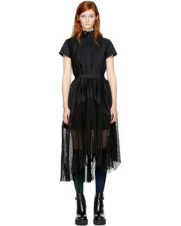 Black Pleated Shirt Dress