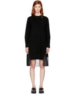 Black Classic Shirting Dress