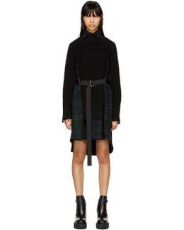 Black Flannel Plaid Dress