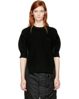 Black Hybrid Shirt Pullover