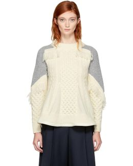 Off-white Colorblock Peplum Pullover