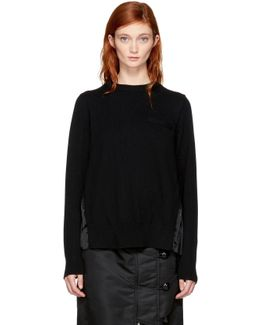 Black Classic Pleated Sweater
