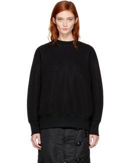 Black Sponge Sweatshirt