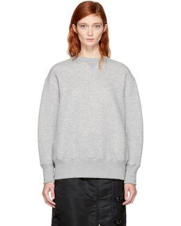 Grey Lace-up Sponge Sweatshirt