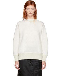 Off-white Lace-up Sponge Sweatshirt