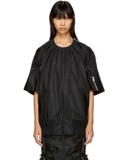 Black Ma-1 Solid Blouse