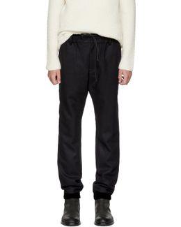 Navy Melton Pants