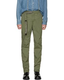 Khaki Washed Cotton Trousers