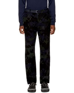 Black Camouflage Trousers