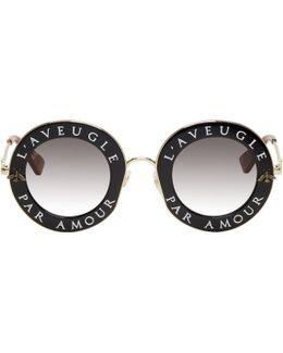 Black 'l'aveugle Par Amour' Sunglasses