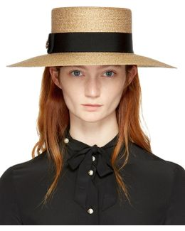 Gold Straw Alba Hat