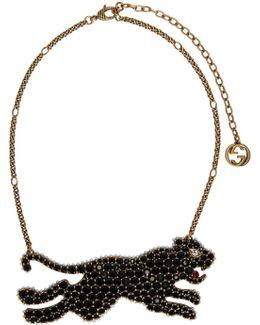 Gold & Black Tiger Necklace
