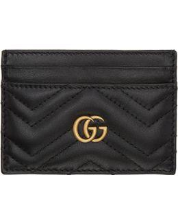 Black Gg Marmont Card Holder