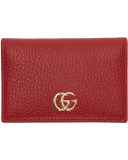 Red Gg Bifold Card Holder