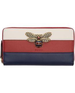 Tricolor Queen Margaret Zip Around Wallet
