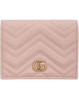 Pink Small Gg Marmont Wallet