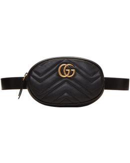 Black Gg Marmont 2.0 Belt Pouch