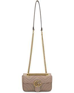 Pink Mini Gg Marmont 2.0 Matelassé Bag